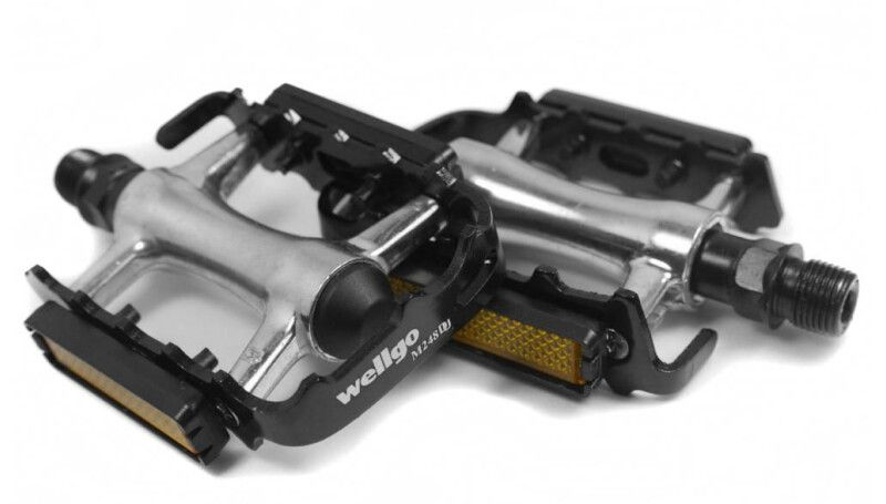 Педалі Wellgo M248DU сріблясті