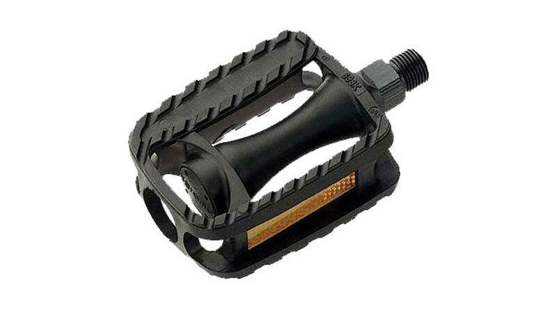 """Педалі Longus MTB пластик, дитячі, 1/2"""" вісь, чорний, світловідбивачі"""