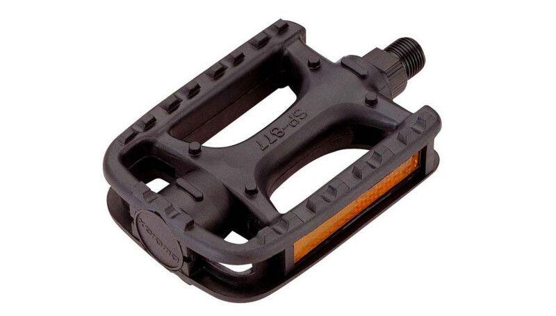 Педалі Longus  MTB пластик чорні, світловідбивачі, насипні підшипники
