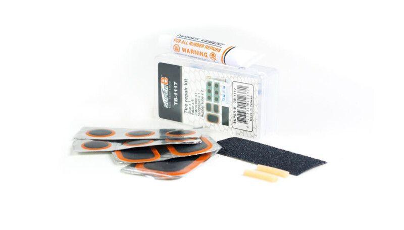 Набір для ремонту камер SuperB (клей,латки,наждачний папір)