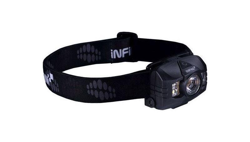 Ліхтар налобный Infini HAWK 100-Black 1 діод 3Wбілий + 2червоних