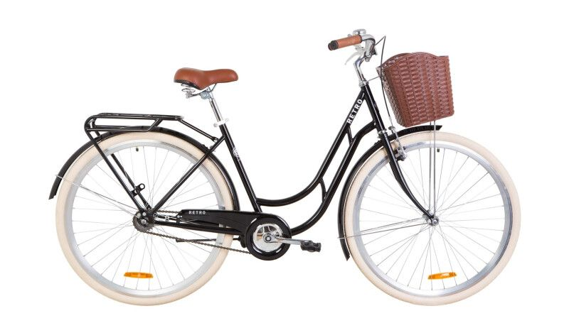 "Велосипед 28"" Dorozhnik RETRO з багажником, крилом та кошиком"