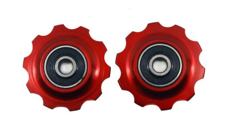 Роліки перемикача X17 алюмінєві на промпідшипниках комплект 11Т/11Т